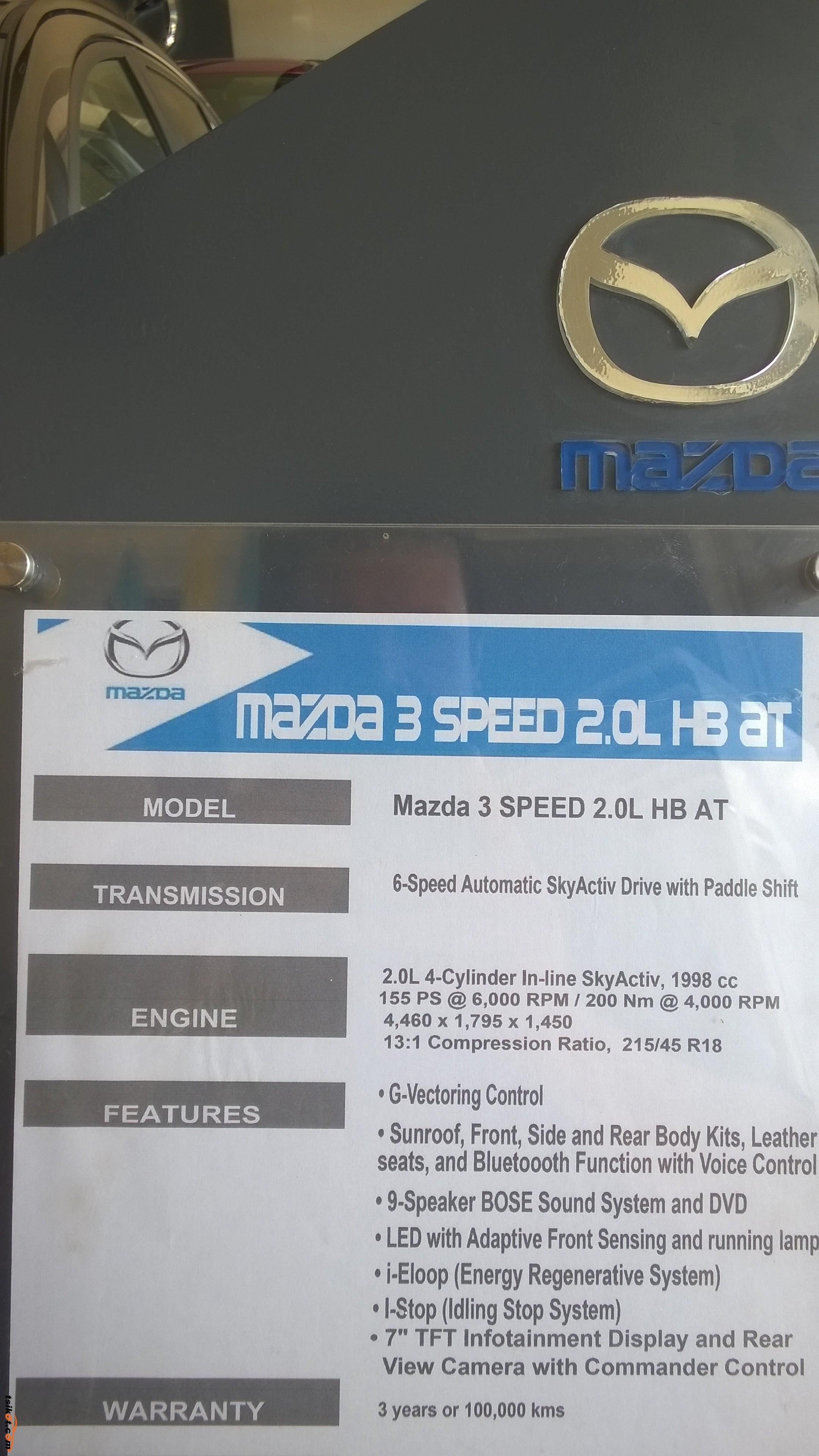 Mazda Mazdaspeed3 2016 - 6
